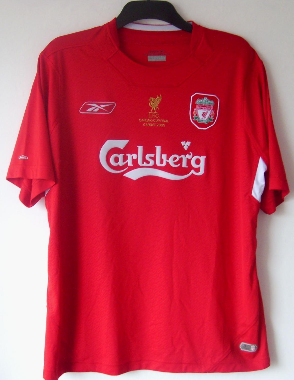 5cccae24d Liverpool Home football shirt 2004 - 2006. Sponsored by Carlsberg
