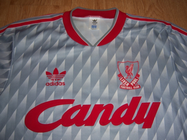 more photos 83253 41be1 Liverpool Away football shirt 1989 - 1991. Sponsored by Candy