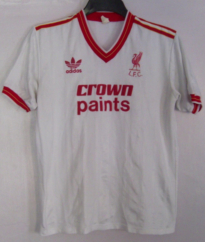 Liverpool ext rieur maillot de foot 1986 1987 ajout for Maillot exterieur