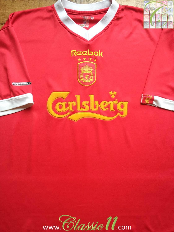 Liverpool Cup Shirt football shirt 2001 - 2003. Sponsored by Carlsberg