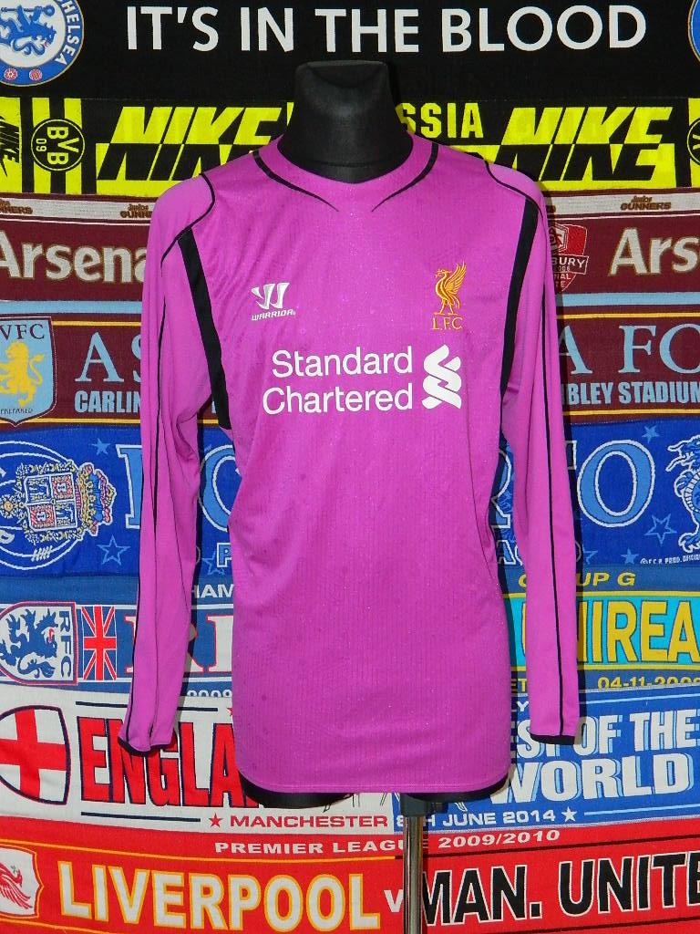 81572d5e1 Liverpool Goalkeeper football shirt 2014 - 2015. Sponsored by ...