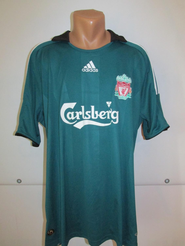 Liverpool Terceira Camisa De Futebol 2008 2009 Sponsored By Carlsberg