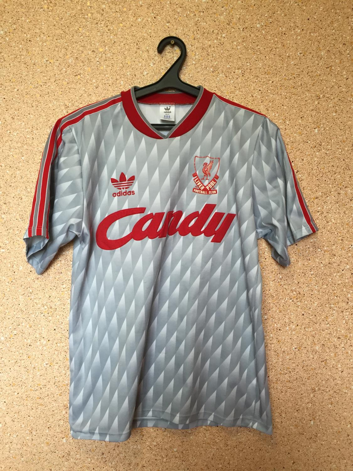 more photos 71822 fbe7e Liverpool Away football shirt 1989 - 1991. Sponsored by Candy