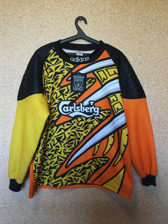 995bcf621 Liverpool Goalkeeper fotbollströja 1995 - 1997. Sponsored by Carlsberg