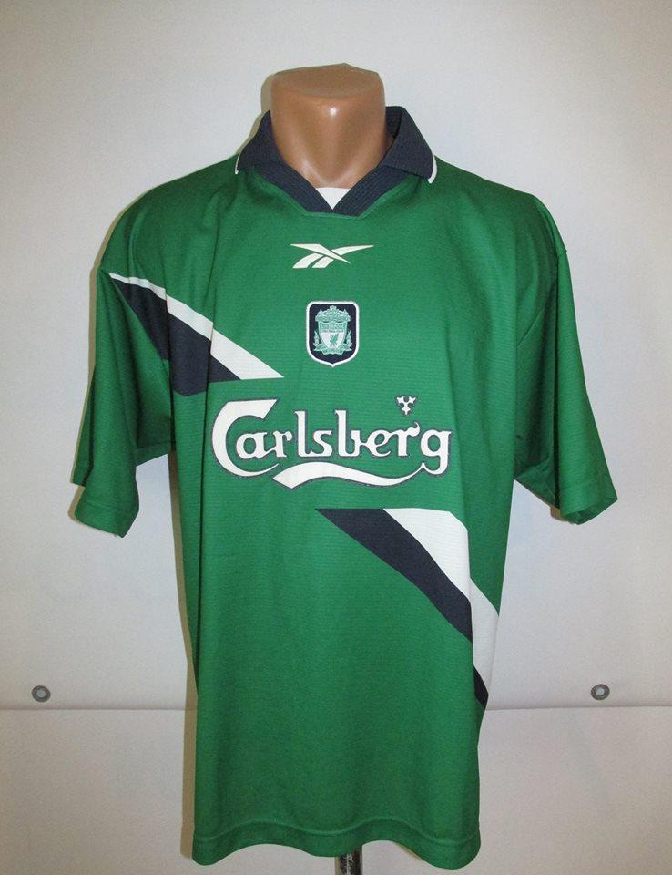 80119a7d5cb Liverpool Away Camiseta de Fútbol 1999 - 2000. Sponsored by Carlsberg