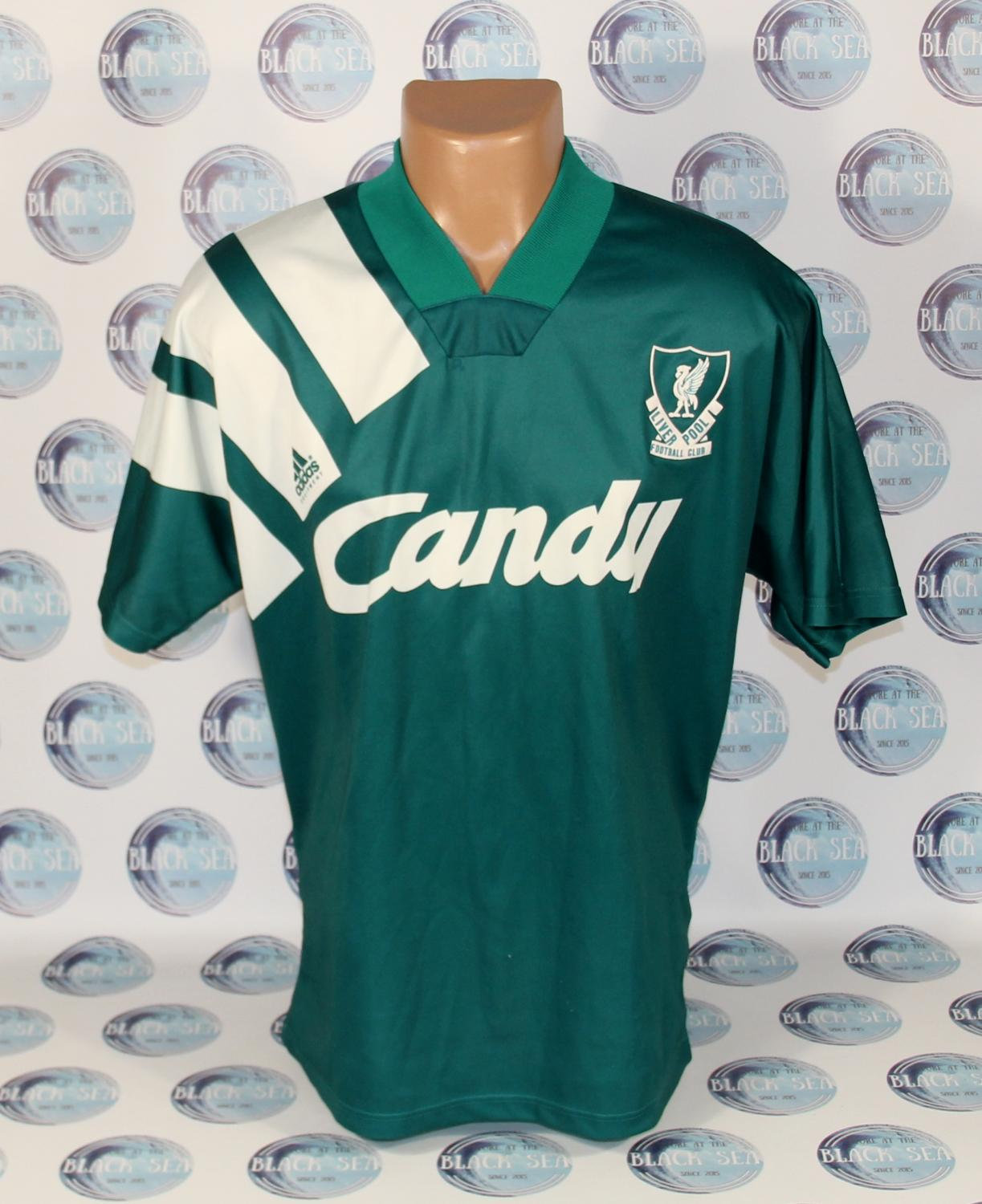 fc5ead8a8 Liverpool Away Maillot de foot 1991 - 1992. Sponsored by Candy