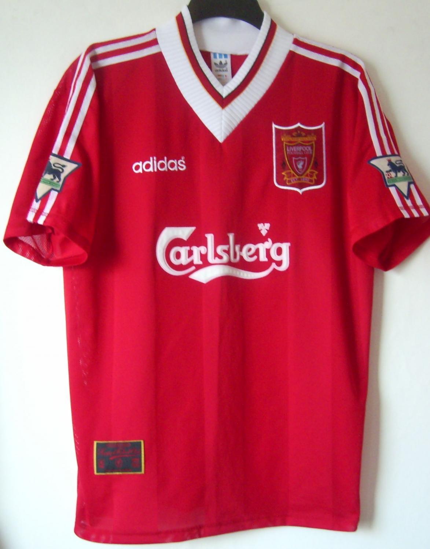 269bce2f4 Liverpool Home football shirt 1995 - 1996. Sponsored by Carlsberg