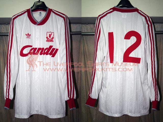 quality design 8b5e2 1e59b Liverpool Third football shirt 1988 - 1989. Sponsored by Candy