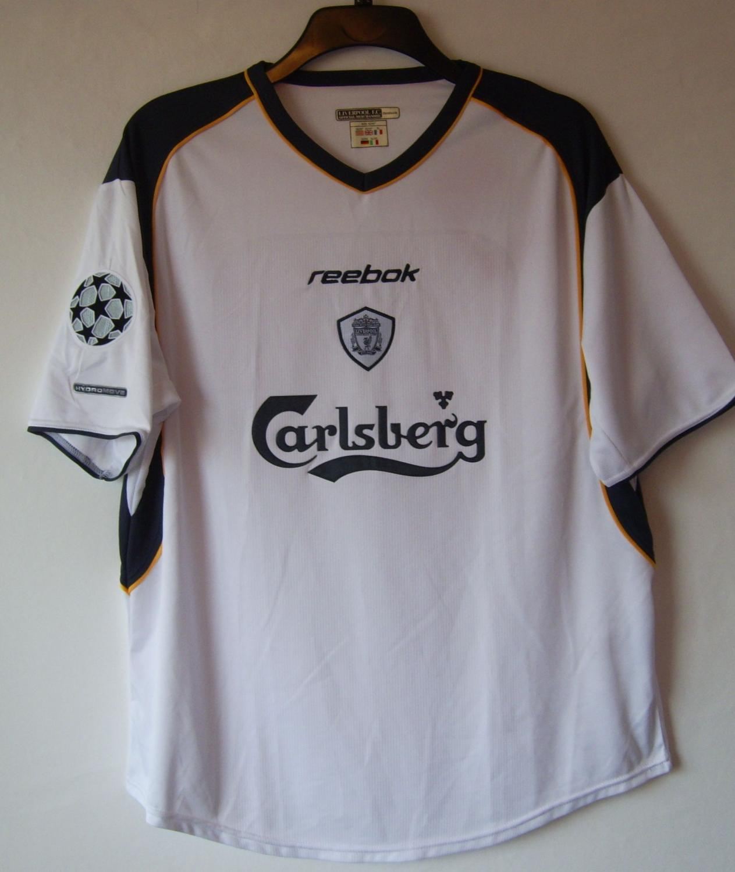Liverpool Away football shirt 2001 - 2003. Sponsored by Carlsberg