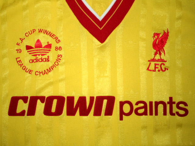 new style d7686 db9a8 Liverpool Third football shirt 1986 - 1987. Sponsored by ...