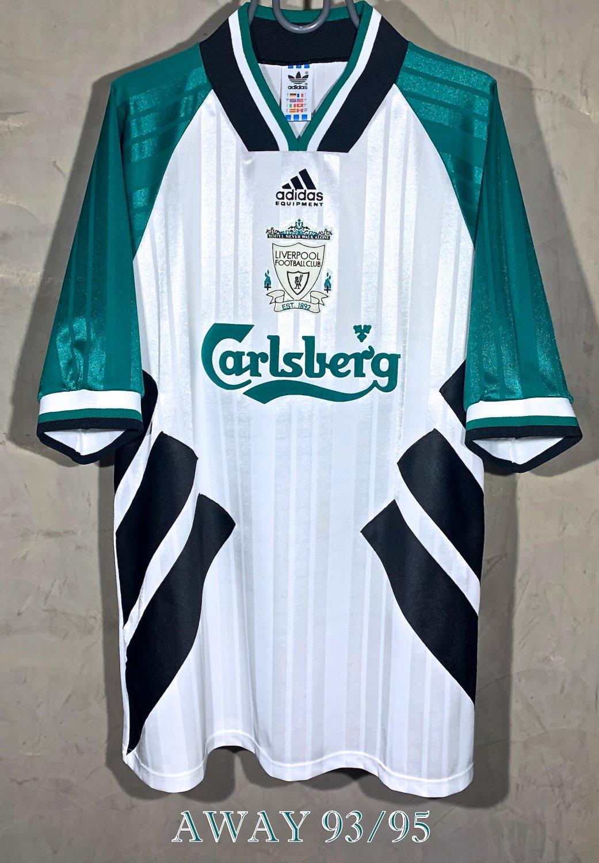 new style b9aca 2e173 Liverpool Away football shirt 1993 - 1995. Sponsored by ...