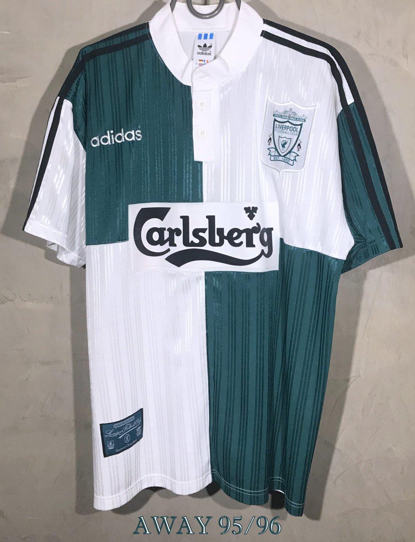 Liverpool Away football shirt 1995 - 1996. Sponsored by Carlsberg