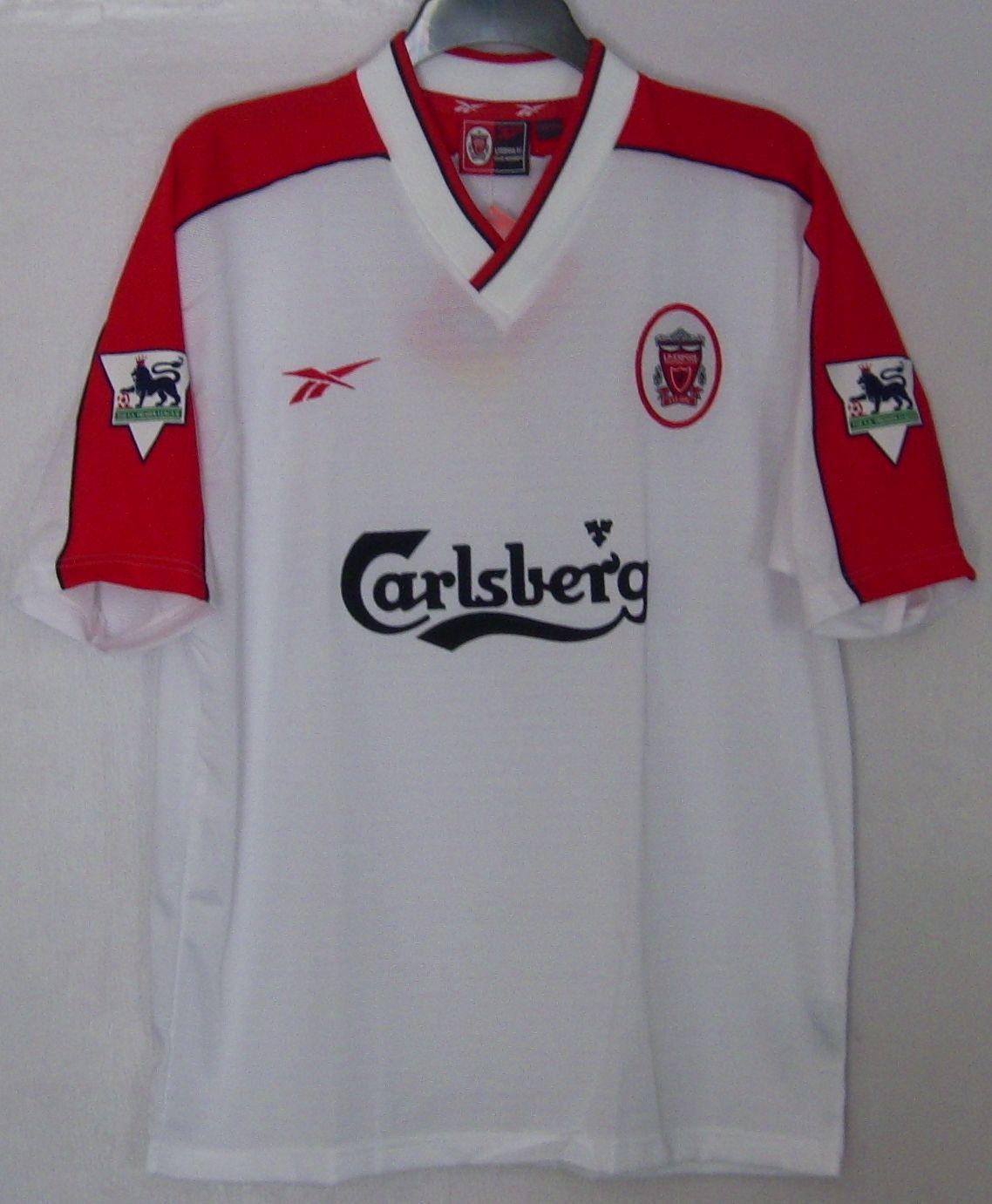 c87247960e3 Liverpool Away football shirt 1998 - 2000. Sponsored by Carlsberg