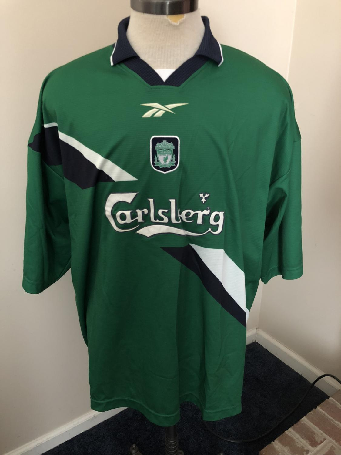 brand new ae74a 8f2bb Liverpool Away football shirt 1999 - 2000. Sponsored by ...