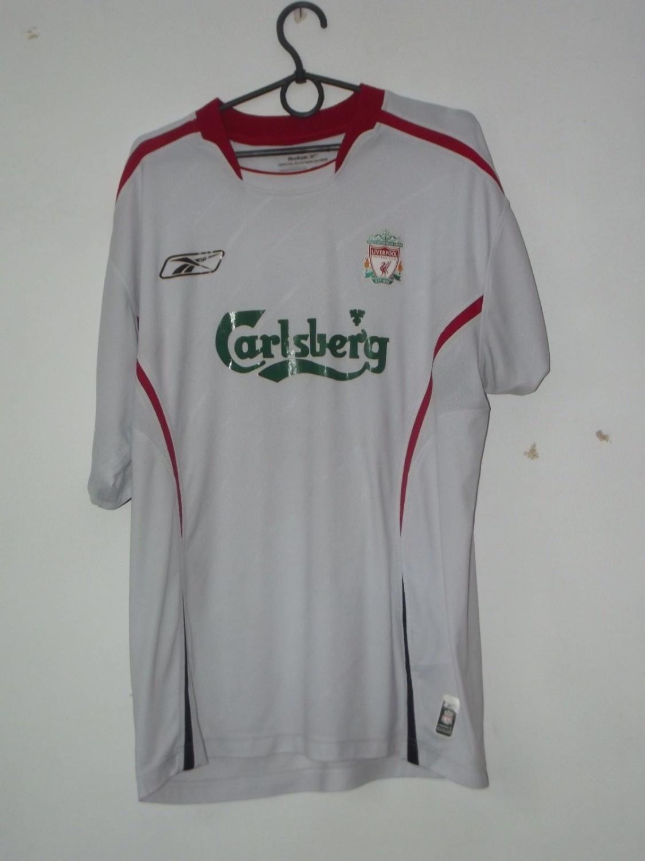 Liverpool ext rieur maillot de foot 2005 2006 ajout for Maillot exterieur