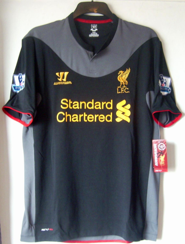 21a37e04b32 Liverpool Away Maillot de foot 2012 - 2013. Sponsored by Standard ...