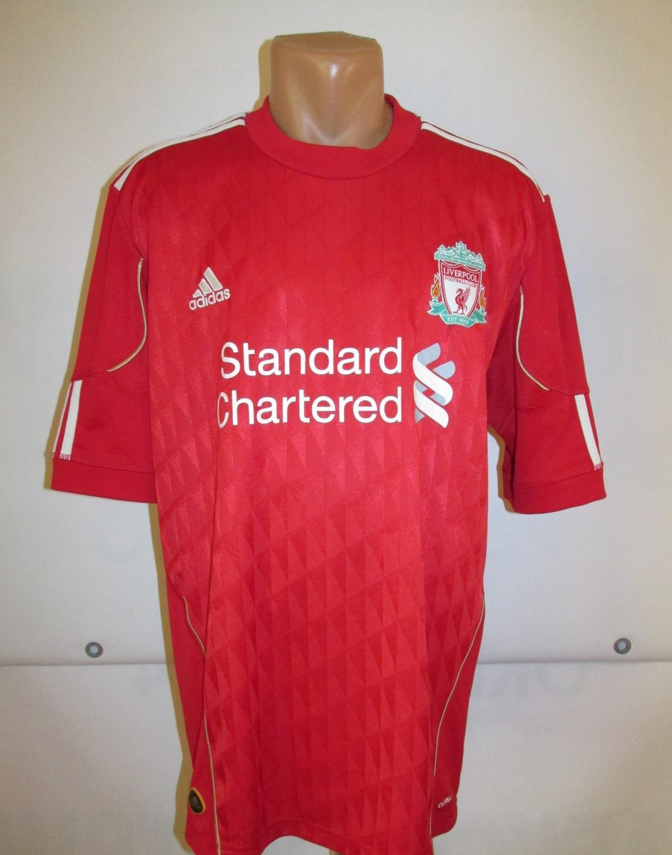 Liverpool Casa Camisa De Futebol 2010 2012 Adicionado