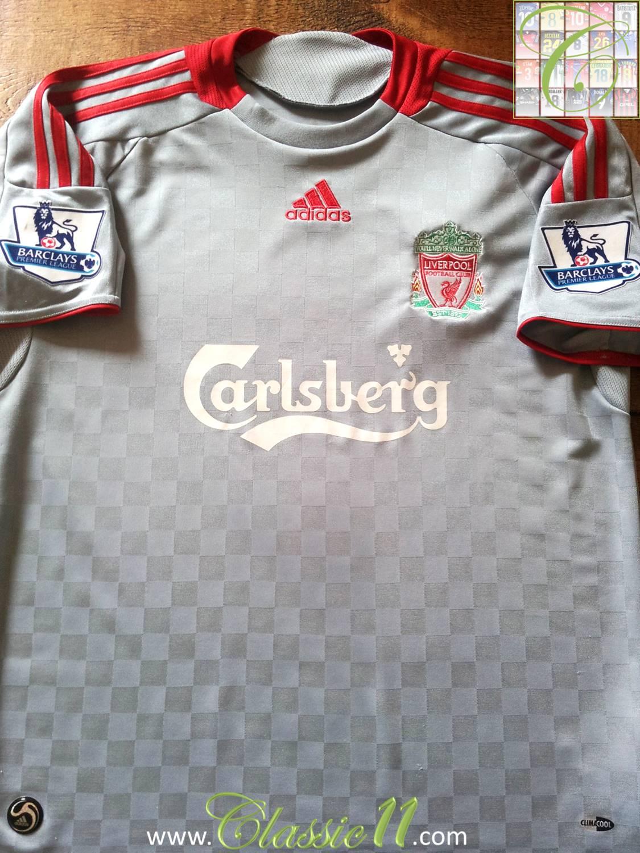 Liverpool ext rieur maillot de foot 2008 2009 ajout for Maillot exterieur