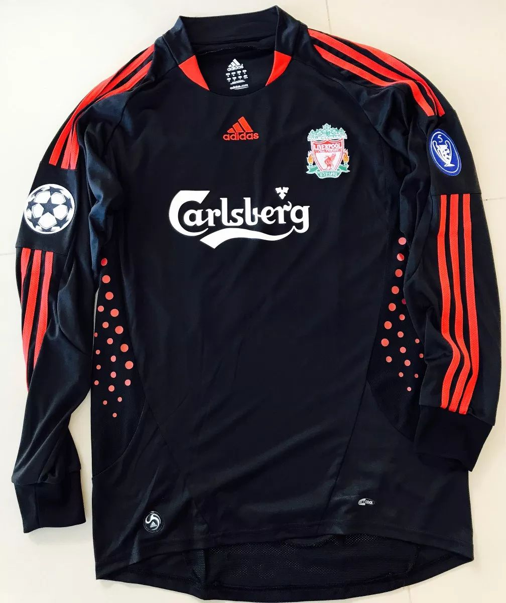 b19a71665 Liverpool Goalkeeper fotbollströja 2007 - 2008. Sponsored by Carlsberg
