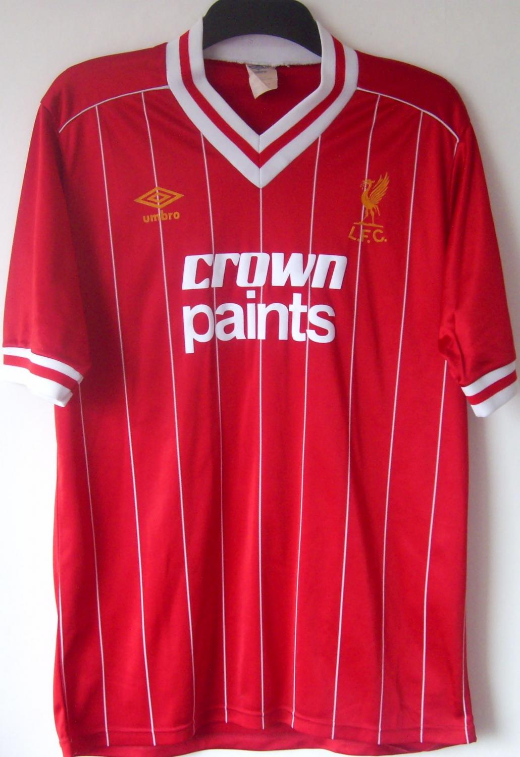 new arrivals 90f3d 7ac2c Liverpool Home fotbollströja 1982 - 1983. Sponsored by Crown ...