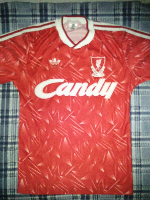 f762a9bd455 Liverpool Home חולצת כדורגל 1989 - 1991. Sponsored by Candy