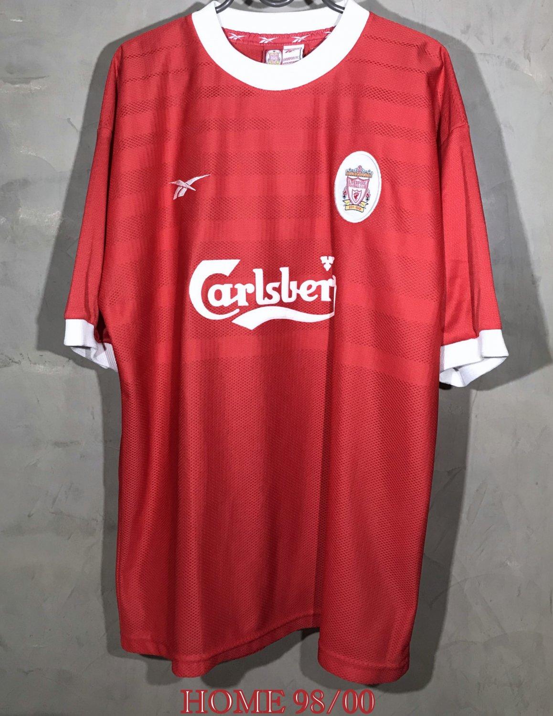 Liverpool Home maglia di calcio 1998 - 2000. Sponsored by Carlsberg