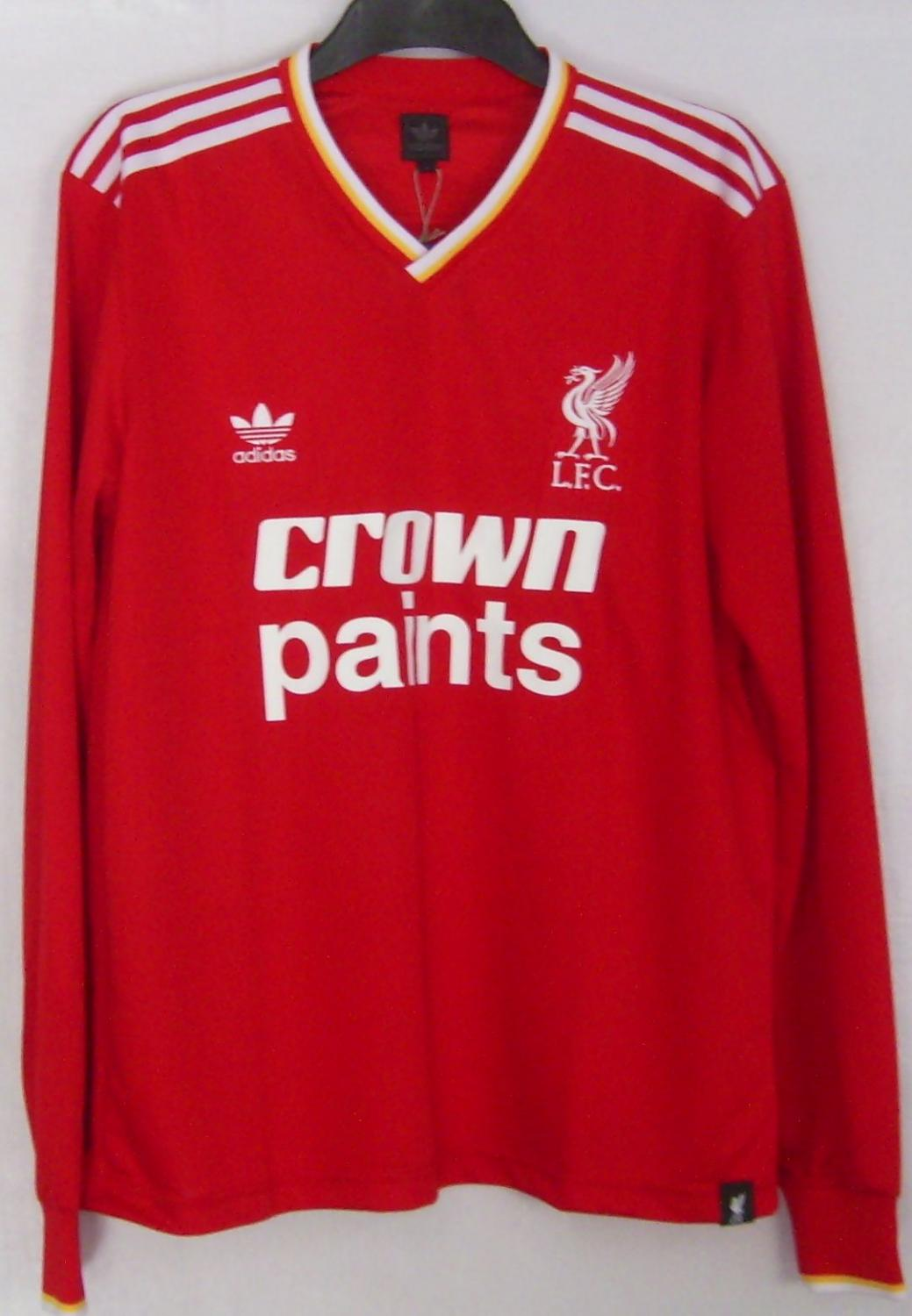 6fc036b093a Liverpool Retro Replicas baju bolasepak 1985 - 1987. Sponsored by ...