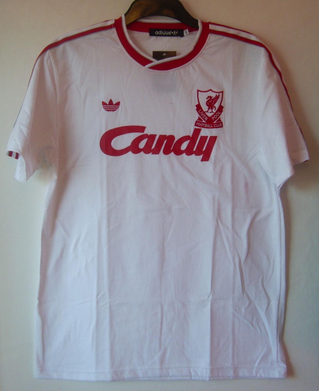 690c40f90 Liverpool Retro Replicas fotbollströja 1988 - 1989. Sponsored by Candy