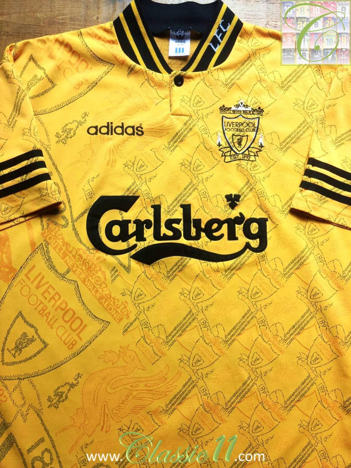 finest selection 29f61 4b527 Liverpool Third football shirt 1994 - 1996. Sponsored by ...