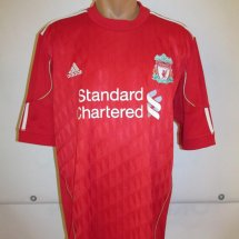 Liverpool Home football shirt 2010 - 2012 sponsored by Standard Chartered