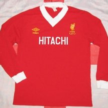 Liverpool Home football shirt 1979 - 1982 sponsored by Hitachi