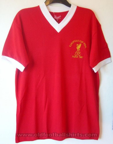 Liverpool Retro Replicas football shirt 1981