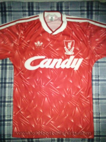 Liverpool Thuis  voetbalshirt  1989 - 1991
