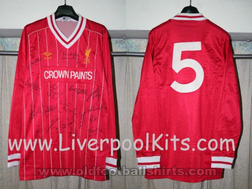 Liverpool Local Camiseta de Fútbol 1983 - 1985