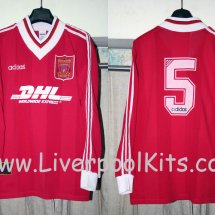 Liverpool Special football shirt 1995 - 1996 sponsored by DHL
