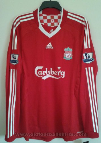 Liverpool Home Fußball-Trikots 2008 - 2010