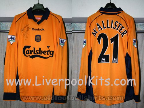 Liverpool Away Camiseta de Fútbol 2000 - 2002