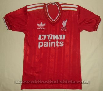 Liverpool Thuis  voetbalshirt  1985 - 1986