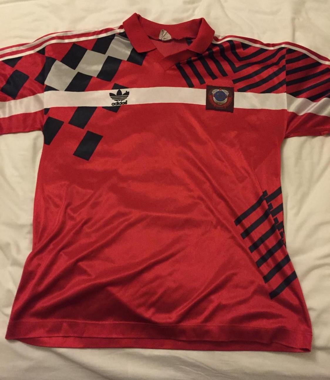 World Cup Draw Image >> CCCP / USSR Home football shirt 1991.