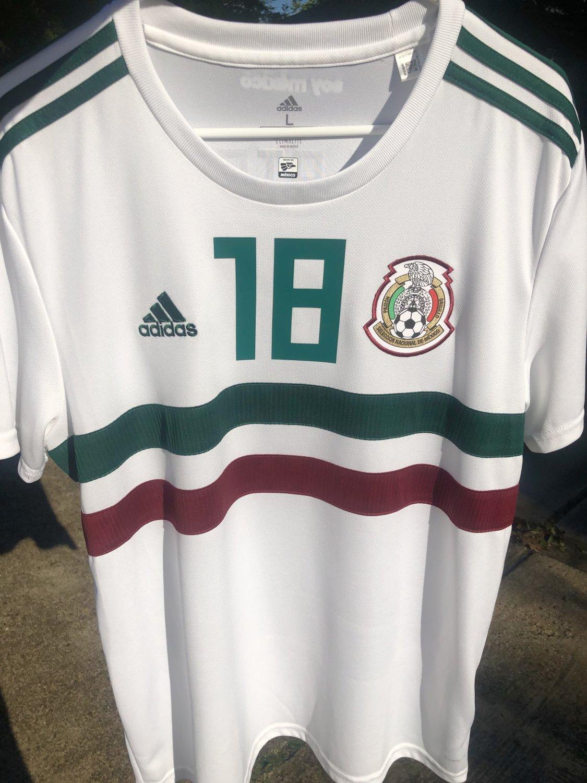 5b5f247e81 Nova Temporada Mexico Away camisa de futebol 2018 - 2019.