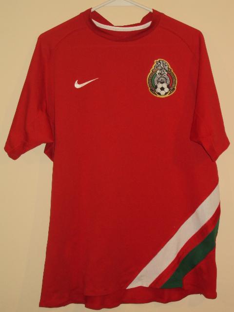 Mexico Träningfritid fotbollströja 2002 2007.