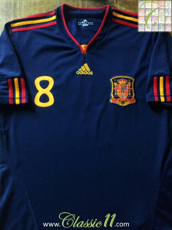 Maglia Calcio Vintage Football Shirt Espana Jersey Mondiale 2010