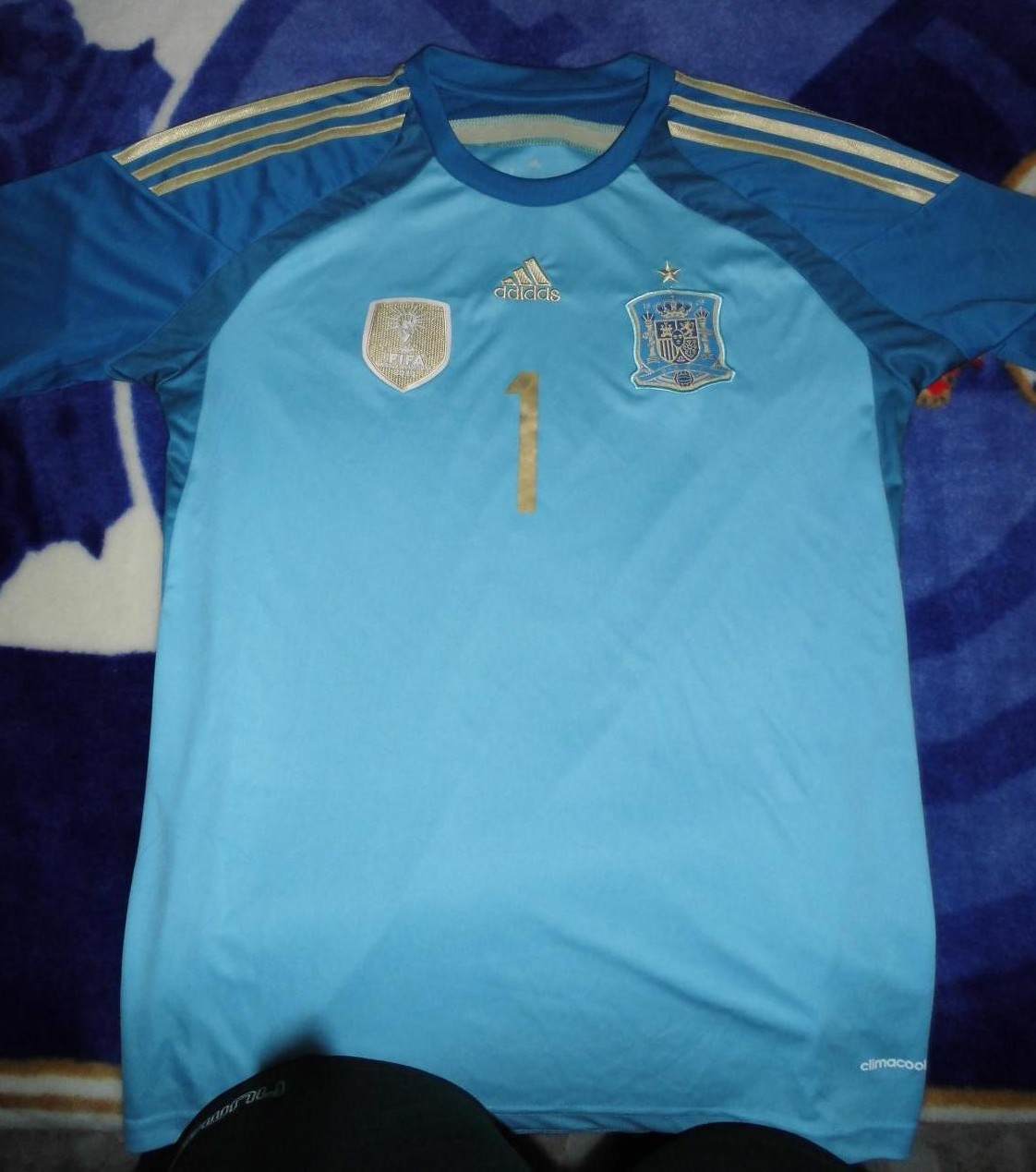 Spain Goalkeeper Football Shirt 2013 2014 Added On 2015