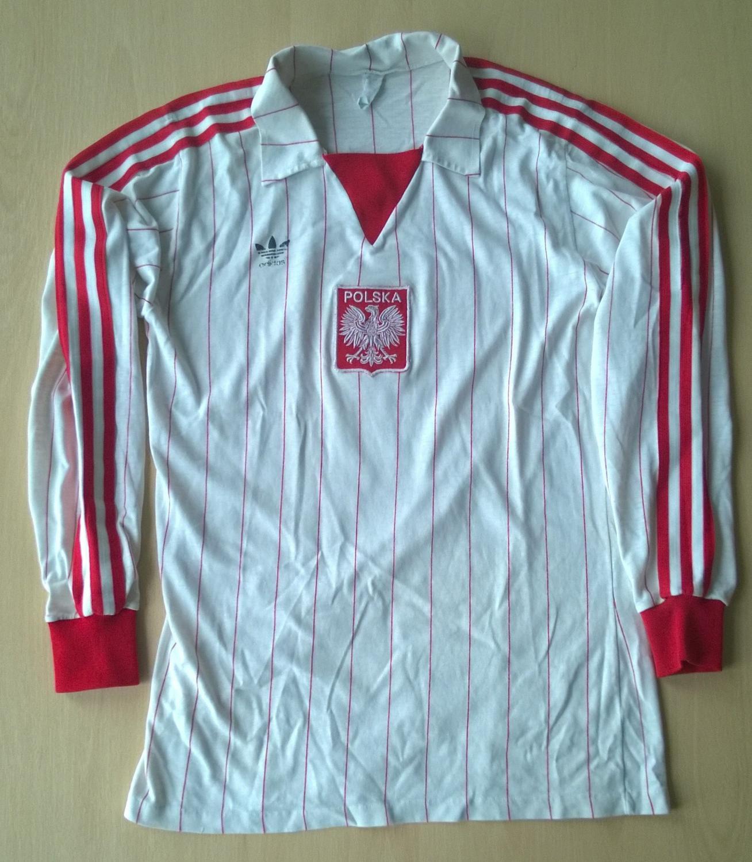 c6d8e6cb3 Poland Home camisa de futebol 1984.
