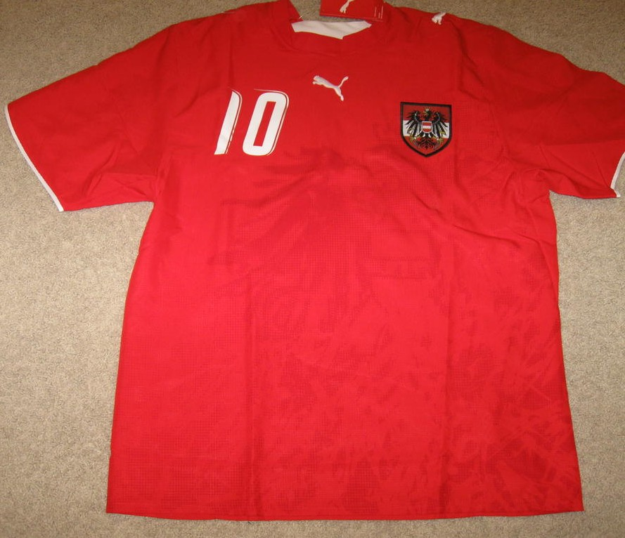 Austria Home camisa de futebol 2004 - 2006. 3c53c4c269a29