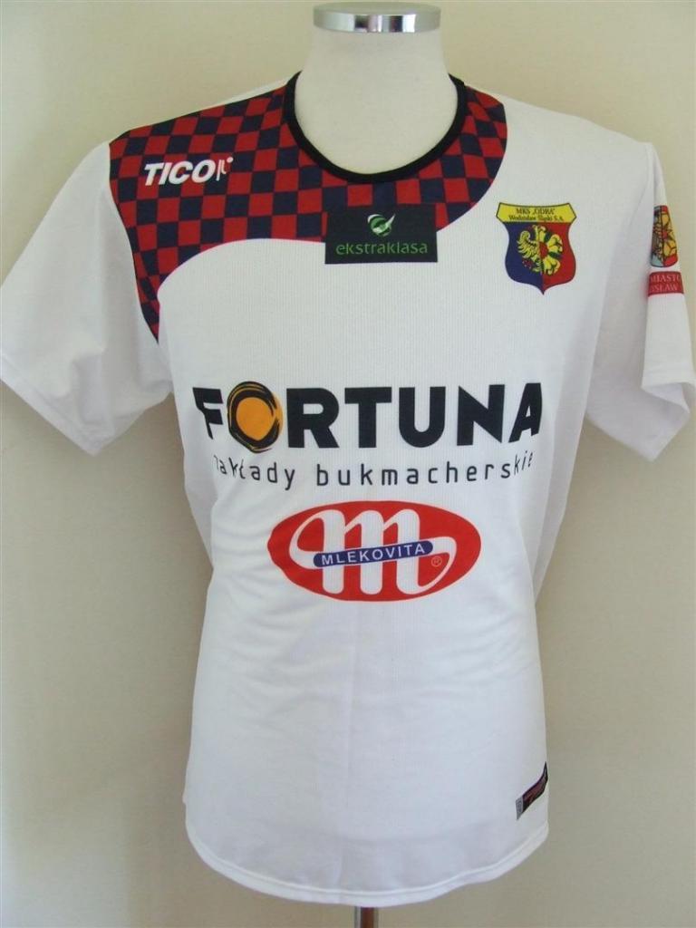 MKS Odra Wodzislaw Slaski Away football shirt 2009 - 2010