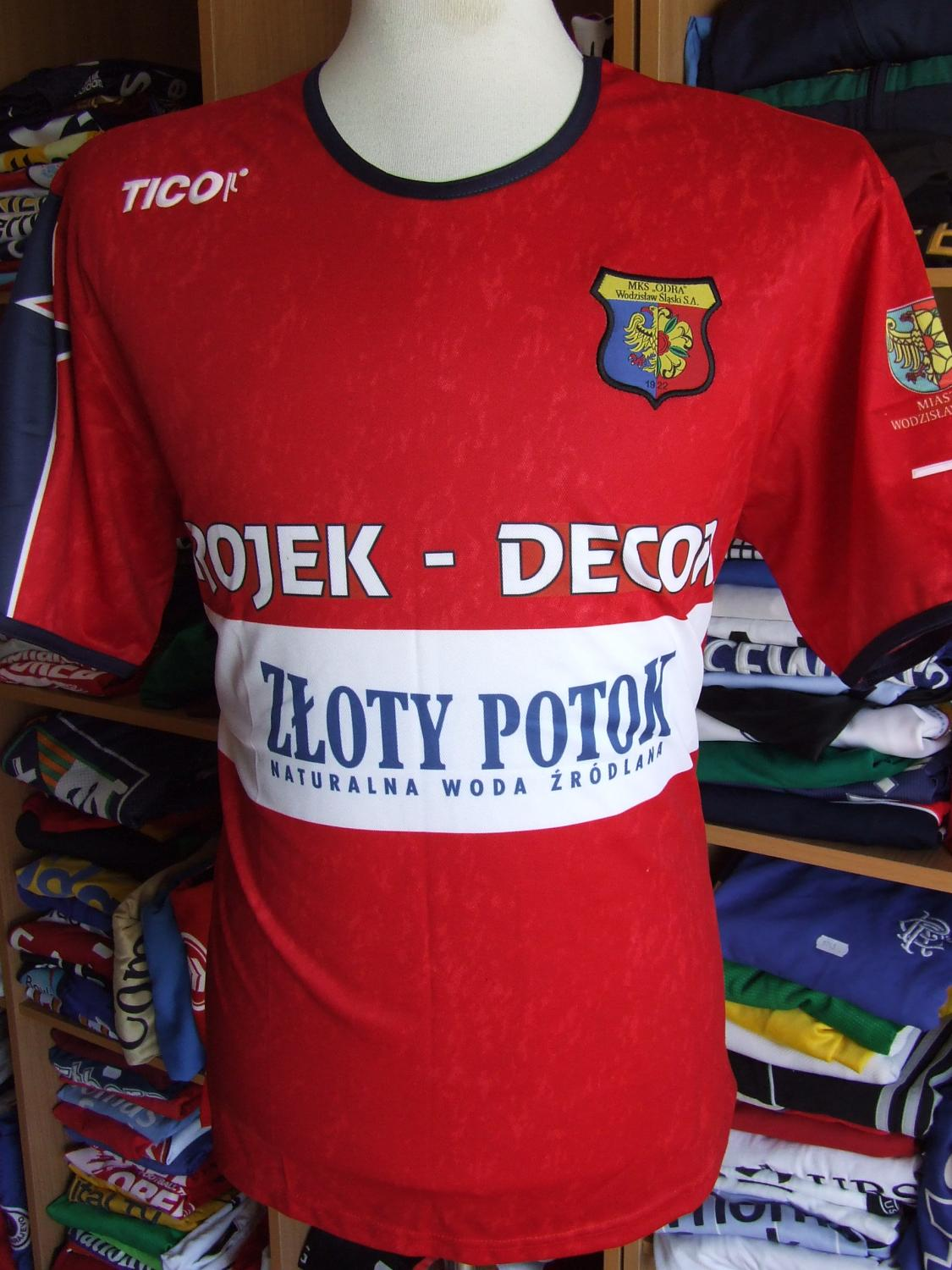 MKS Odra Wodzislaw Slaski Home football shirt 2007 - 2008