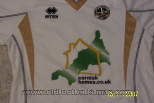 Truro City FC Home football shirt 2007 - 2009