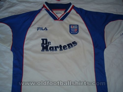 AFC Rushden & Diamonds Home Fußball-Trikots 2000 - 2002