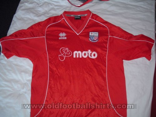 AFC Rushden & Diamonds Home Fußball-Trikots 2005 - 2006